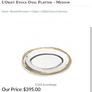 L'Objet Silver and gold serving platter